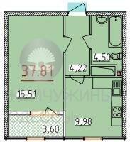 34 жемчужина 1к. квартира