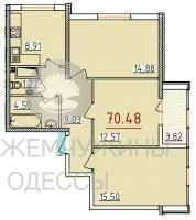 34 жемчужина 3к. квартира